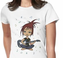 Guitar Chick (version 1, with music notes) T-Shirt