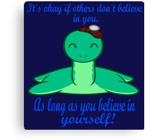 The Loch Ness Monster is a Motivational Speaker Canvas Print