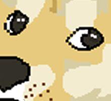 wow pixel shibe doge Sticker