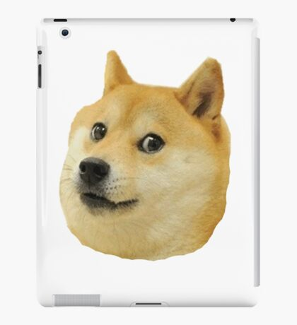 shibe doge face iPad Case/Skin