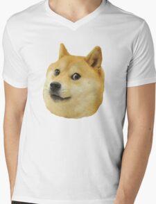 shibe doge face Mens V-Neck T-Shirt