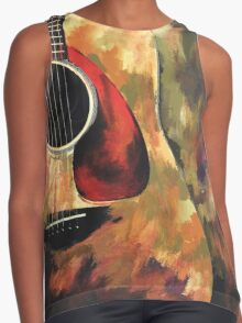sad Guitar  Contrast Tank