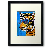 Cool Tiger in Sun Shades  Framed Print