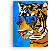 Cool Tiger in Sun Shades  Canvas Print