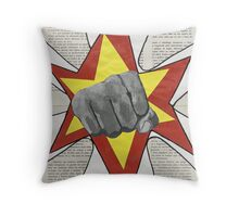 Super Awesome Fist Bumping! Throw Pillow