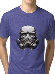 Skeleton Stormtrooper Helm Tri-blend T-Shirt