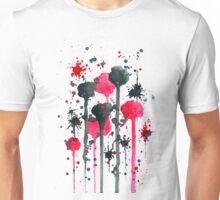 Abstract 11 Red Black Splash Unisex T-Shirt