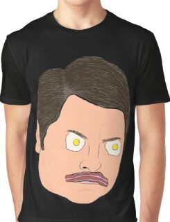 Bacon and Eggs Ron Swanson Graphic T-Shirt