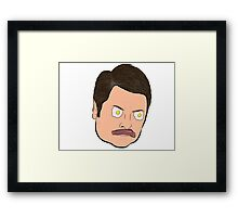 Bacon and Eggs Ron Swanson Framed Print