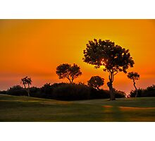 Sunset on the 9th fairway at Aphrodite Hills Photographic Print