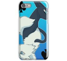 Jackdaw's Cry & Falling Feather Playing Card iPhone Case/Skin