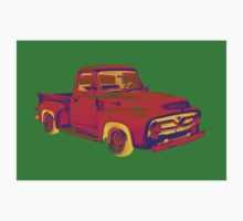 Classic 1955 F100 Ford Pickup Truck Pop Art Kids Clothes