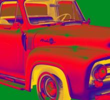 Classic 1955 F100 Ford Pickup Truck Pop Art Sticker