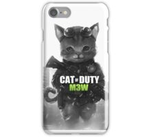 Cat of Duty M3w iPhone Case/Skin