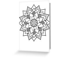 Mehndi / Henna style lotus flower blossom (black) Greeting Card