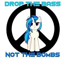 Vinyl Scratch - Drop the bass not the bombs Photographic Print