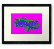 Mg Tc Antique Car Pop Image Framed Print