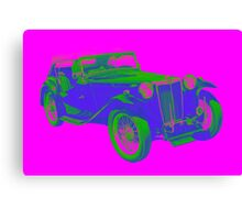 Mg Tc Antique Car Pop Image Canvas Print