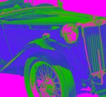 Mg Tc Antique Car Pop Image Sticker