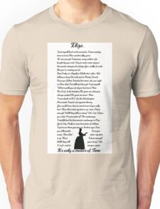Eliza...-Who Lives Who Dies Who Tells Your Story-Hamilton the Broadway Musical by Lin Manuel Miranda Unisex T-Shirt