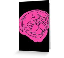 Pinky Pug Greeting Card