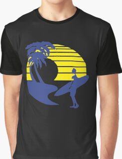 Afternoon Wave Surf Graphic T-Shirt