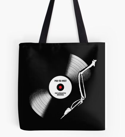 post-apocalyptic birdsongs in 33 rpm Tote Bag