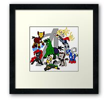The Avengers Pony Club Framed Print
