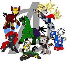 The Avengers Pony Club Photographic Print