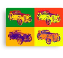 Colorful Mg Tc Antique Car Pop Art Canvas Print