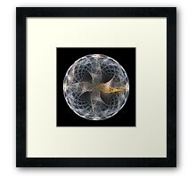 Fractal Art - glitter ball Framed Print