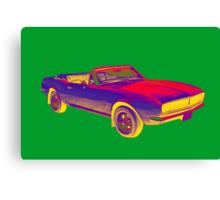 1967 Convertible Camaro Muscle Car Pop Art Canvas Print