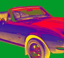 1967 Convertible Camaro Muscle Car Pop Art Sticker
