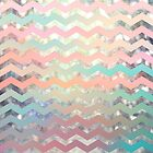 New World Pastel Chevron by sandra arduini