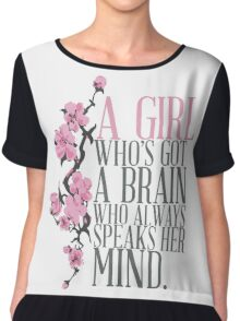 a girl who's got a brain Chiffon Top