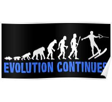 Funny Water Skiing The Evolution Of Man Continues Poster
