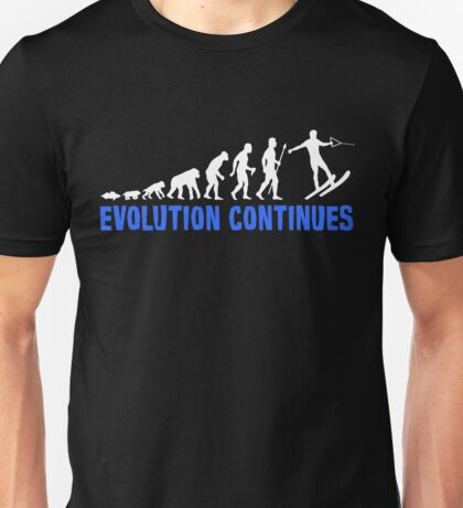 Funny Water Skiing The Evolution Of Man Continues Unisex T-Shirt