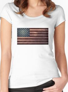 American Flag I Women's Fitted Scoop T-Shirt