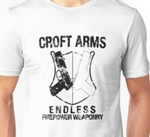 Croft Arms - Black Unisex T-Shirt