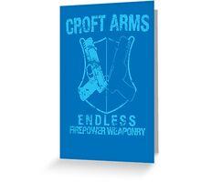 Croft Arms - Light Blue Greeting Card