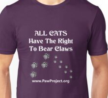 Right to Bear Claws - Black & White Unisex T-Shirt