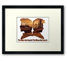 The man who regrets/forgets galifray Framed Print