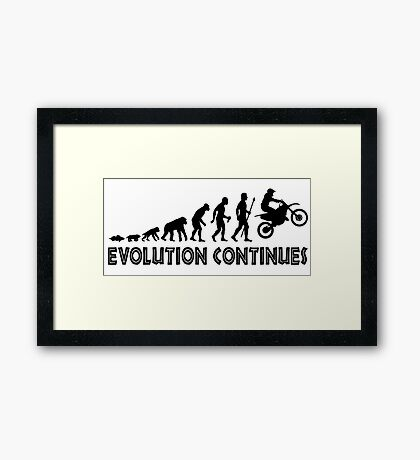 Funny Trail Bike Supercross Evolution Continues Silhouette Framed Print