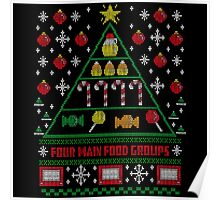 Elf Christmas Ugly Quote Poster