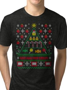 Elf Christmas Ugly Quote Tri-blend T-Shirt