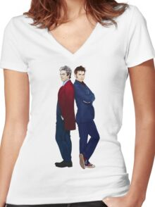 Doctor Who - Doctor 10 & Doctor 12 Women's Fitted V-Neck T-Shirt