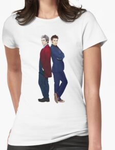 Doctor Who - Doctor 10 & Doctor 12 Womens Fitted T-Shirt