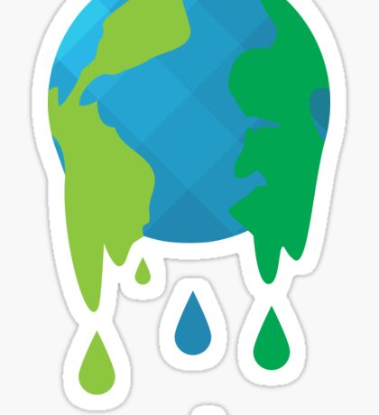 Wet Blue Planet Sticker