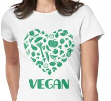 Vegan Lover Womens Fitted T-Shirt