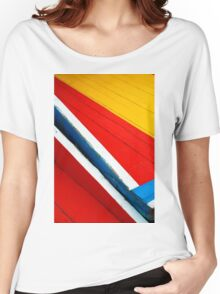 Xochimilco Boat Abstract 1 Women's Relaxed Fit T-Shirt